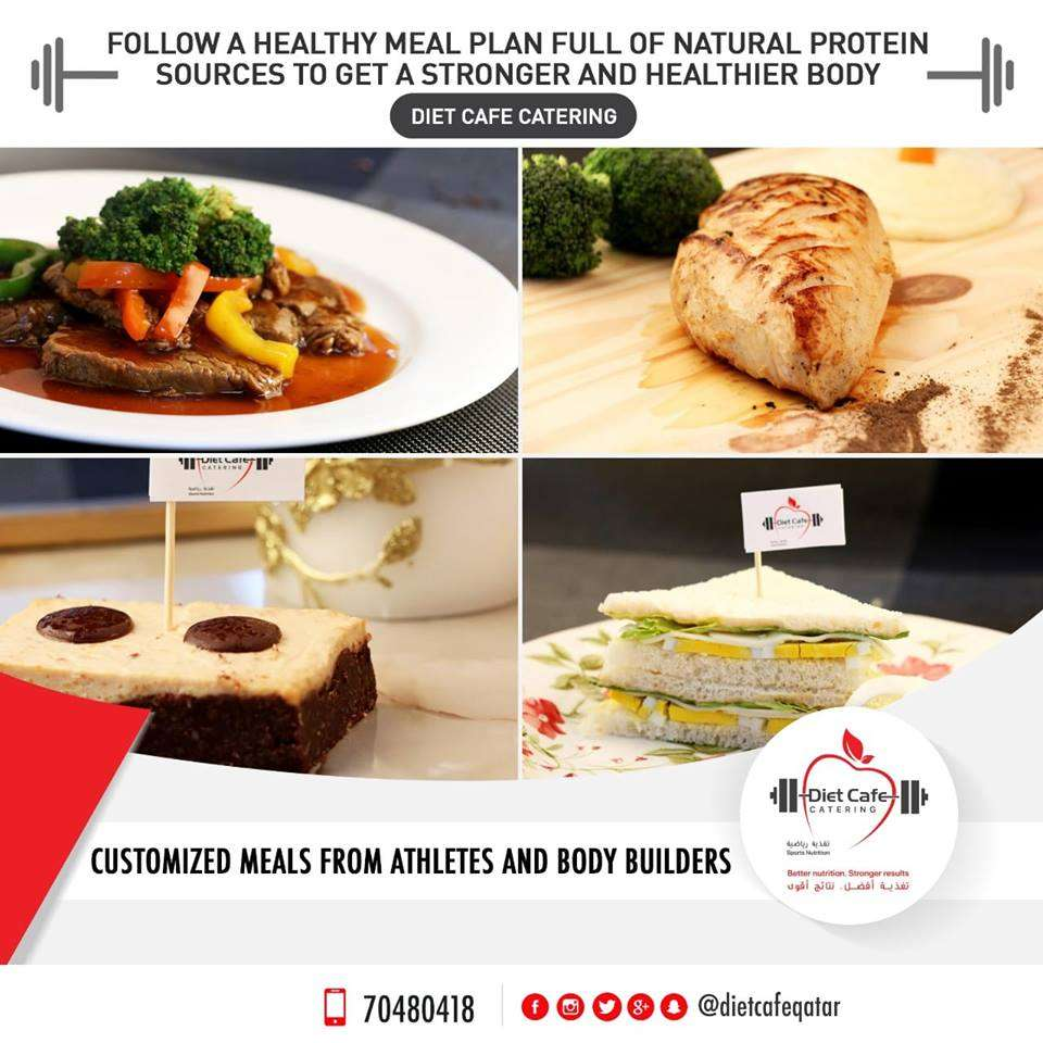 Diet Cafe Catering Offers A Wide Range of Customized Meals Rich in Protein , Carbs and Vegetables for Athletes and Body Builders